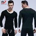 Homme Бренд Одежда Rashguard Фитнес Одежды Сексуальные Мужчины С Длинным Рукавом Мужчины Одежда Спорт Хлопок сжатия
