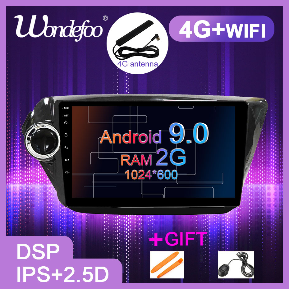 9 DSP IPS 2 5D Screen Android 9 0 Car GPS for KIA RIO 3 4