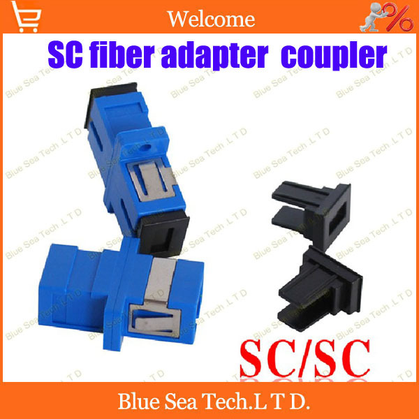 Free Shipping 10pcs New SC fiber optic adapter,SC flange coupler, SC/UPC adaptor, fiber coupler for digital communications