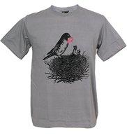 Adult T Shirt S 2Xl Crew Neck Short Sleeve Music Life Bird Feed Key Note Nature
