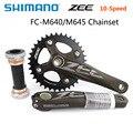 SHIMANO ZEE 10 скоростей шатуны FC-M640 FC M645 цепь колеса горного велосипеда MTB шатуны 165 мм/170 мм 36 т с BB запчасти для велосипеда