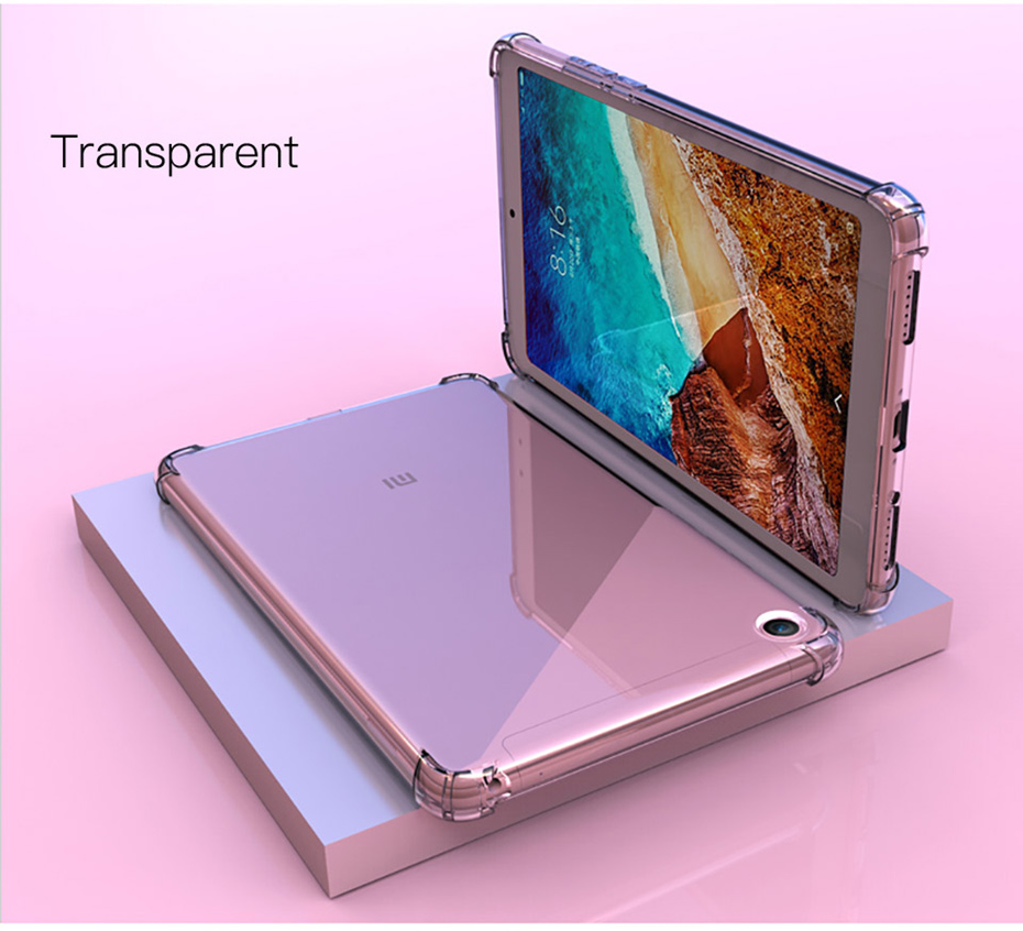 For Xiaomi Mi Pad 4 Case Silicone Tpu Mipad 4 Plus Case Back Cover Shockproof Protective Tablet Xiomi Mi Pad4 8 10 Inch