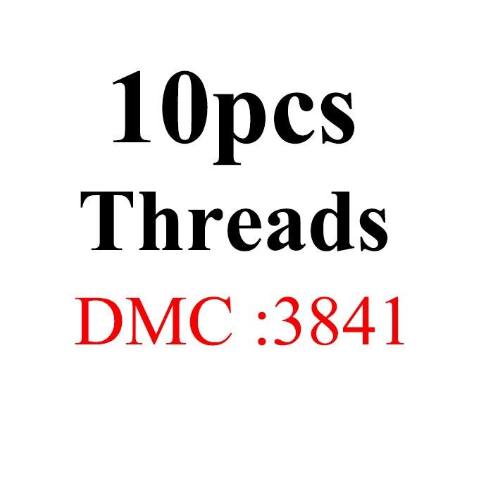 Snowlover, рукоделие, 10 шт./лот, 1,2 м, разные цвета, DMC3824-3848, вышивка крестиком, хлопковое шитье, моток пряжи, нить для вышивки - Цвет: 1.2mthread-DMC3841