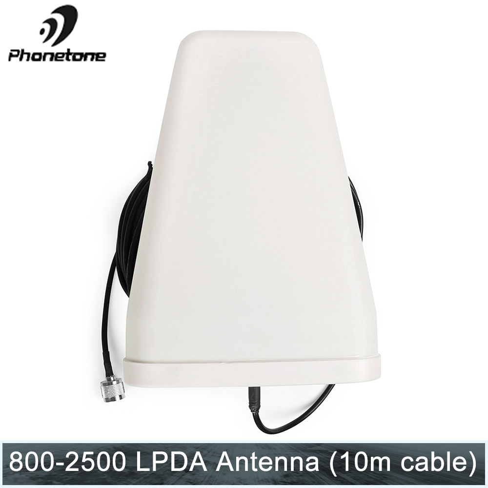 2G 3G 4G Antenna 800~2500MHz 10dBi Outdoor Directional LPDA Antenna With N Male Connector 10m Cable For Signal Booster Repeater