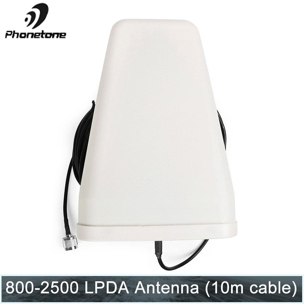 2G 3G 4G antenne 800 ~ 2500 MHz 10dBi extérieure directionnelle antenne LPDA avec N connecteur mâle 10 m câble pour répéteur de Signal Booster