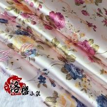 Costume hanfu formal dress baby clothes kimono cos cheongsam woven damask fabric small peony