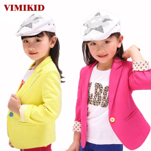 VIMIKID 2017 NEW spring kids suits jacket for girls, Children brand casual coats, Fashion trench girl blazers kids clothing