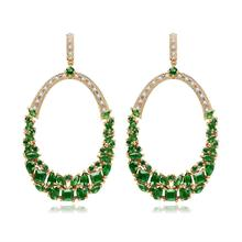LISM Fashion Ethic Big Circle Earring  AAA Cubic Zircon Atmosphere Jewelry  For Women Party Gift Wholesale