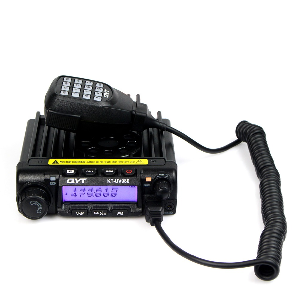 QYT KT-UV980 65W 200CH Vehicle Radio Transceiver Multiple Function VHF/UHF Dual Band Dual LCD Display FM Mobile Car Radio A7231A