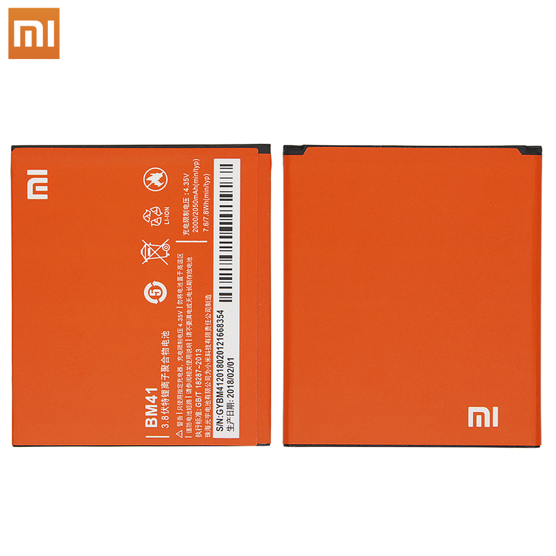 Xiao Mi <font><b>Original</b></font> Phone <font><b>Battery</b></font> BM41 For <font><b>Xiaomi</b></font> 2A <font><b>Redmi</b></font> Hongmi Red Rice 1 <font><b>1S</b></font> 2 High Capacity 2000mAh image