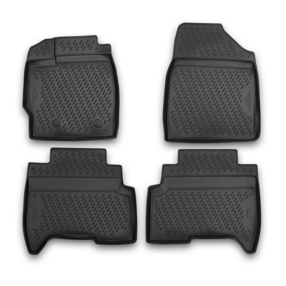 For Lifan X50 2015-2019 3D floor mats into saloon 4 pcs/set Element CARLIF00005 запчасти lifan x50