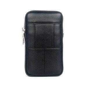 Image 4 - 남자 가죽 엉덩이 허리 가방 셀/휴대 전화 동전 지갑 포켓 벨트 부랑자 주머니 팩 빈티지 엉덩이 가방 고품질