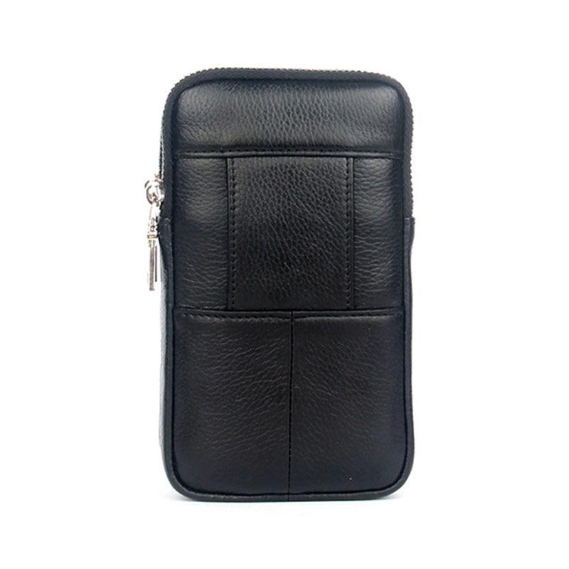 Men Leather Fanny Waist Bag Cell/Mobile Phone Coin Purse Pocket Belt Bum Pouch Pack Vintage Hip Bag High Quality 6