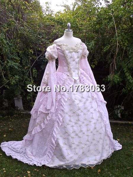 New! Ever After Inspired Ballgown Fantasy Wedding Gown/Southern Belle Gown Reenactment Theater Costume