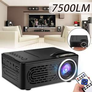 Portable Projector Beamer Video-Theater Movie Home Cinema Lumens 1080P LED 7500 HD 320x240