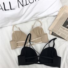 SP&CITY New Fashion Summer Back Hollow Out Sexy Bra Push Up Chest Women Soft Seamless Wire Free Bras Female Lingerie