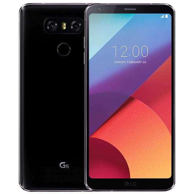 Разблокированный мобильный телефон LG G6 H871/H872/H873 5,7 дюймов 4 Гб ОЗУ 32 Гб ПЗУ Snapdragon 821 двойная задняя камера LTE отпечаток пальца - Цвет: Черный