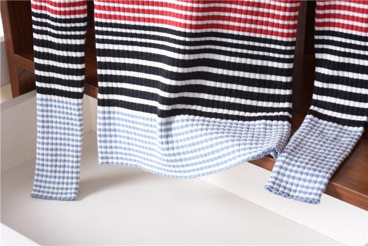 Tricot Gros Mélange Polyester Pull Chandail Laine En S De Au Oneck White l Détail Rayé Nouveauté Femmes Mode wqHI5CCU1