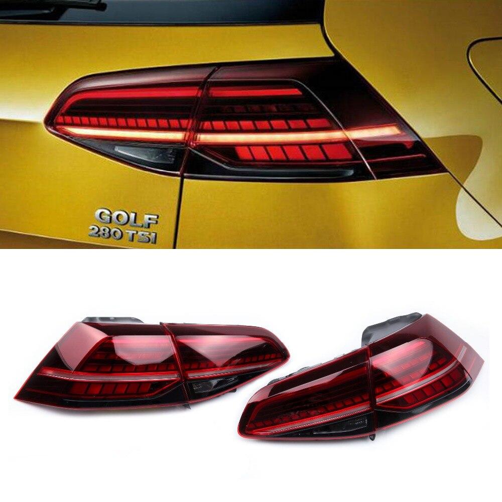 NEW Cherry Dark Red Dynamic LED Taillight Lamp Tail Light Assembly For Volkswagen Golf 7 MK7 Golf R Golf 7.5 MK7.5 5G0945307P