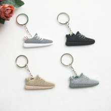 Cute Mini Silicone Yeezy Boost 350 Key Chain Woman Kids Key Rings Gifts Sneaker Key Holder Jordan Shoes Keychain