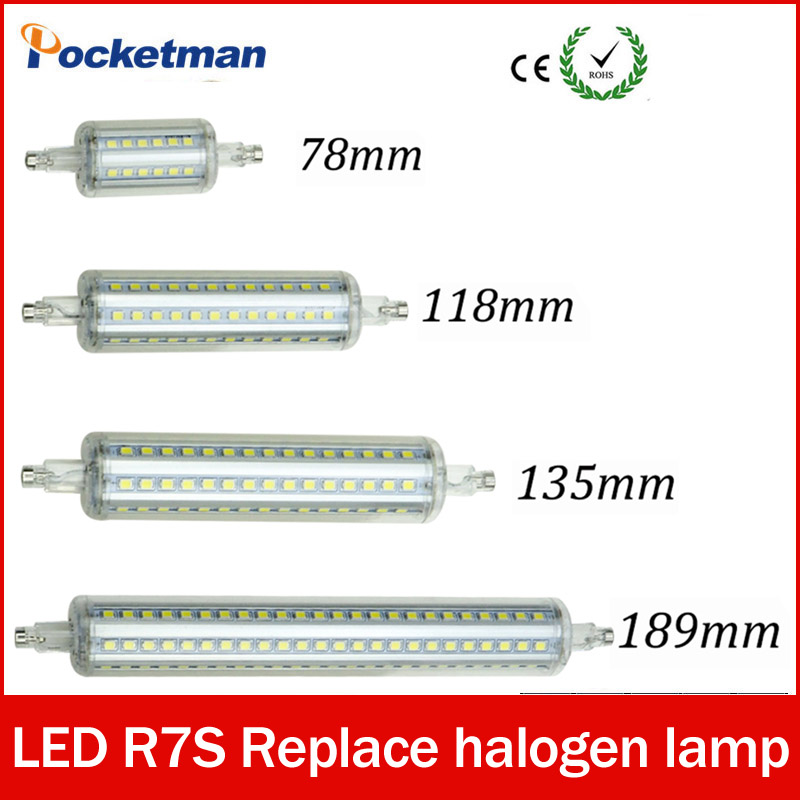 LED Light Dimmable R7S led J118 118mm 360 degree 2835SMD J78 78mm lampadas led r7s bulb J135 135mm replace halogen lamp
