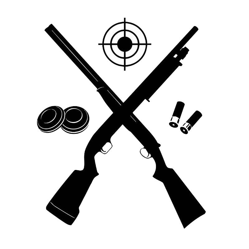 Target Shooter Gun Vinyl Wall Decal Light Switch Sticker 5WS0274