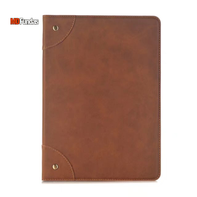 купить MDFUNDAS Vintage Book Style Solid Color Case For Apple iPad 2017 10.5 Coque Flip Stand PU Leather Cover For iPad 2017 10.5 дешево