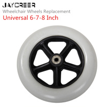 JayCreer 6 дюймов, 7 дюймов, 8 дюймов внутренний диаметр отверстия 8 мм Замена колеса для инвалидных колясок, роликов, ходунков и многое другое