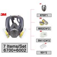 3 м 6700 + 6002 Full Facepiece многоразовый противогаз Фильтр Защиты Маска Анти Кислотный газ NIOSH & LA Сертифицированный R82403
