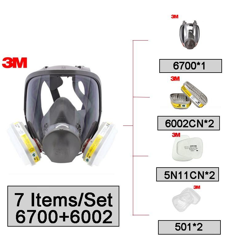 3m 6900l respiratore a pieno facciale