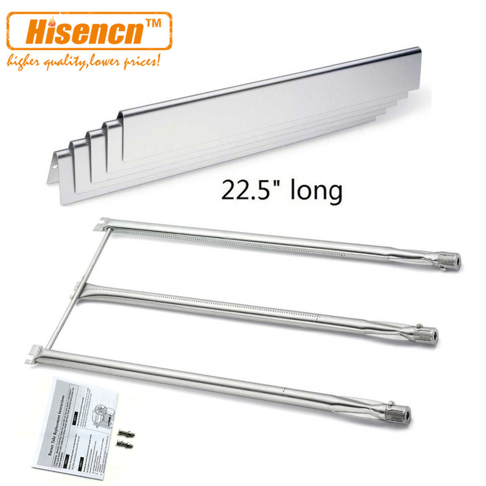 Hisencn Replacement SS Burner 7508 and SS Heat Plate 7537 for Genesis Silver Gold B C
