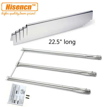 Hisencn Replacement SS Burner 7508 and SS Heat Plate 7537 for Genesis Silver,Gold B & C, Spirit 700 Gas Grill - DISCOUNT ITEM  0% OFF All Category