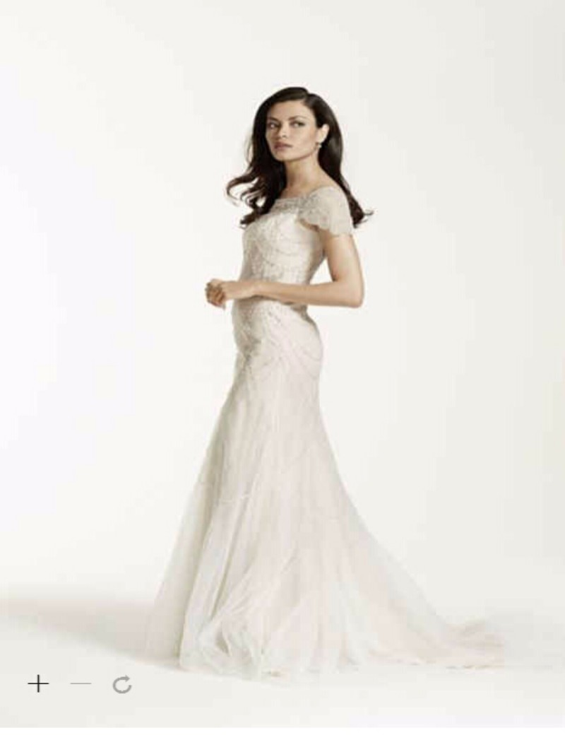 88cef03d Custom Made 2016 New Free Shipping Short Sleeve Beaded Illusion Tulle  Sheath Wedding Dress Style SWG680 Wedding Dresses-in Wedding Dresses from  Weddings ...