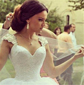 9030 2016 Beads Crystal Lace White Wedding Dresses for brides with train plus size maxi size 2 4 6 8 10 12 14 16 18 20 22 24 26