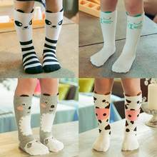 5ba1e729f Cartoon Animal Baby Knee High Socks for Girls Infant Fox Socks Toddler Baby Girl  Knee Socks Lovely Totoro Cat Knee Sock S M L