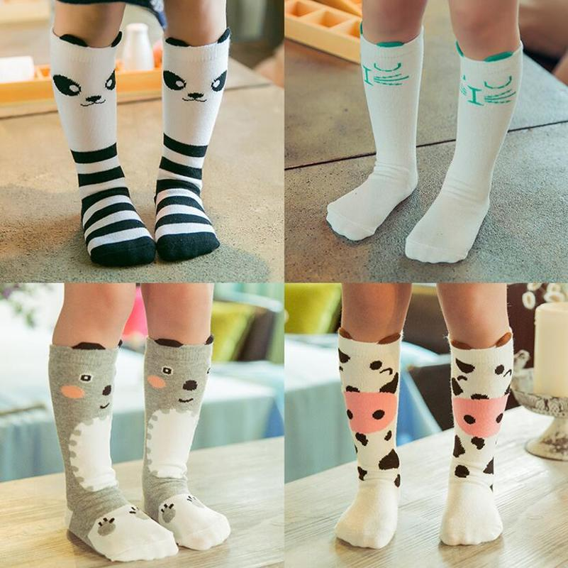 Cartoon Animal Baby Knee High Socks For Girls Infant Socks Toddler Baby Girl Knee Socks Lovely Animal Knee High Sock S/M/L