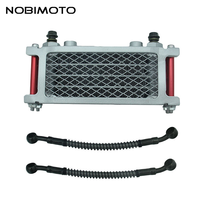 Off Road Motorcycle Oil Cooler Scooter 50cc Radiator With Short Tube Fit for 50cc-160cc Dirt Bike Off Road Motorcycle CNC-181-3