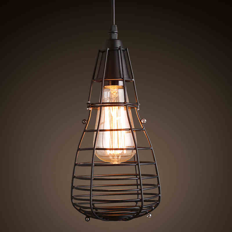 Cafe lighting chandelier small iron cage clothing store coffee shop aisle corridor balcony Chandelier european rural bird marble hemp rope chandelier cafe restaurant corridor balcony chandelier size 33 38cm e27 ac110 240v