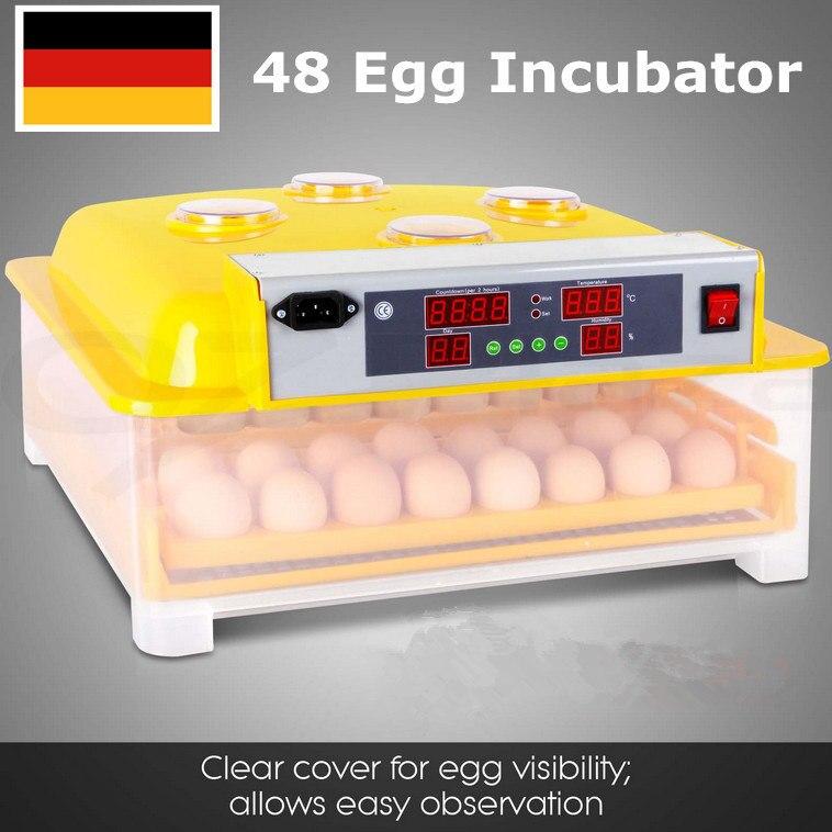Fast ship from Germany ! China Mini egg incubator Automatic Hatchery incubator 48 eggs fashion automatic incubator 48 egg on sale free ship to eu