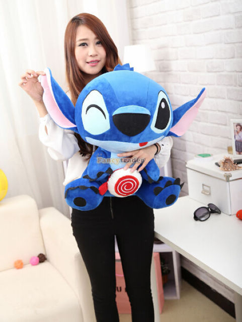 Fancytrader 2015 New Cute Stitch Toy 25'' / 65cm 2015 Limited Edition Giant Plush Stuffed Stitch Good Gift Free Shipping FT90146