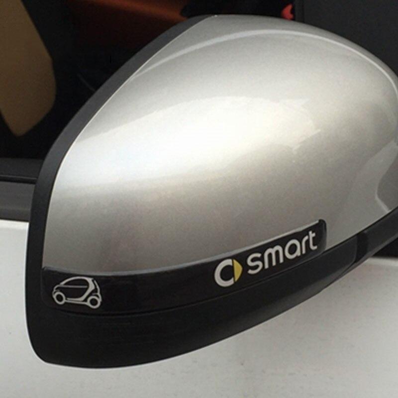 Для smart450 451 453 fortwo наклейка на зеркало заднего вида утепленные анти-столкновения для двери автомобиля Elantra Accent Tucson стикер Тюнинг автомобилей ...