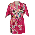 Hot selling girls peacock bridesmaid stain silk robes children silk kimono robes girls bathrobes gowns nightdress peignoir
