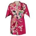 Venda quente meninas da dama de honra pavão stain silk robes crianças robes de seda quimono roupões de banho meninas vestidos de camisola peignoir