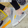 Wikileaks 2016 Hot Selling Women Casual Solid Elastic Band Canvas Shoes Woman Flat With Lower-cut Student Shoes Zapatos Mujer