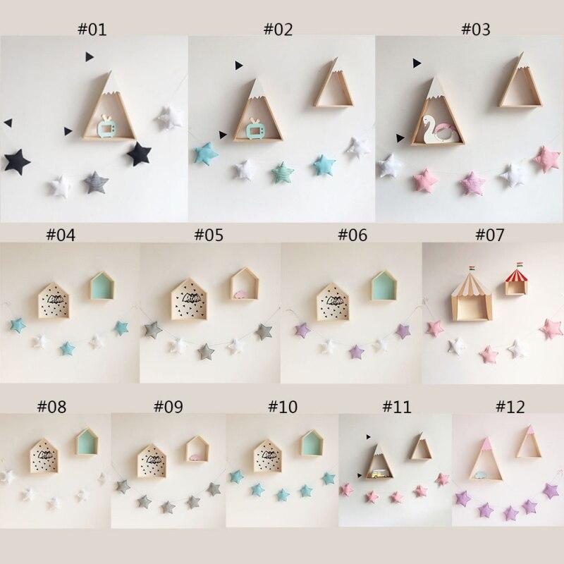 Handmade Nursery Star Garlands Christmas Nordic Kids Room Wall Decorations New