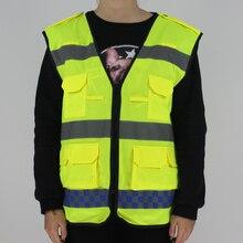 Encell Cinturón Reflectante De Alta Visibilidad Ropa de Seguridad para Correr Ciclismo Luz de Advertencia Al Aire Libre Camisa de diseño de Coches de Policía Chaleco