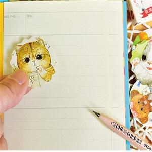 Image 4 - 30packs/lot Mini karikatür kedi kağıt etiket dekorasyon Diy günlüğü Scrapbooking sızdırmazlık Sticker Kawaii kırtasiye not defteri
