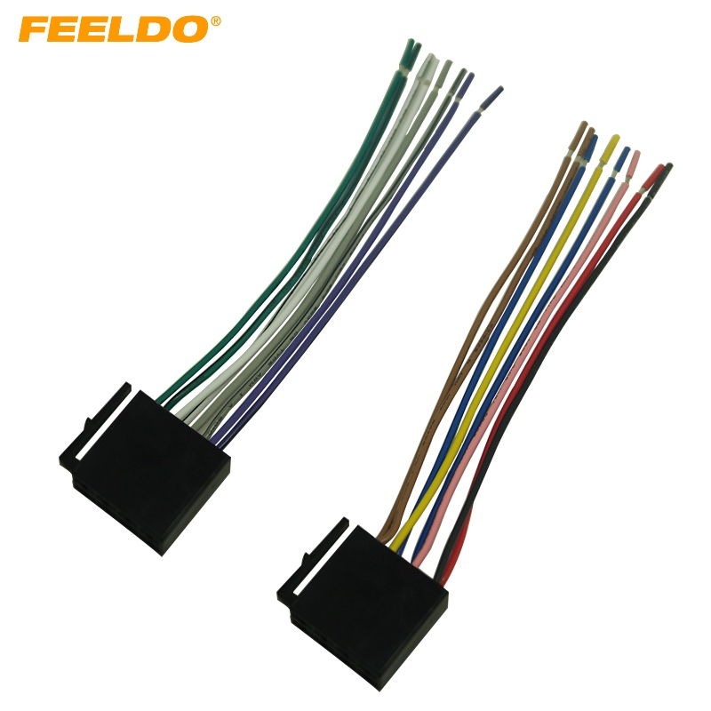 Feeldo 5pair Car Audio Stereo Wiring Harness For