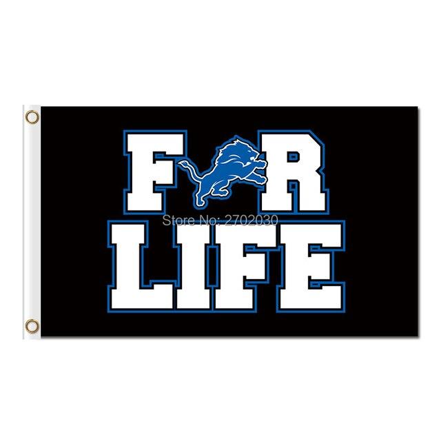for life design detroit lions logo flag team super bowl champions 3ft x 5ft banner world