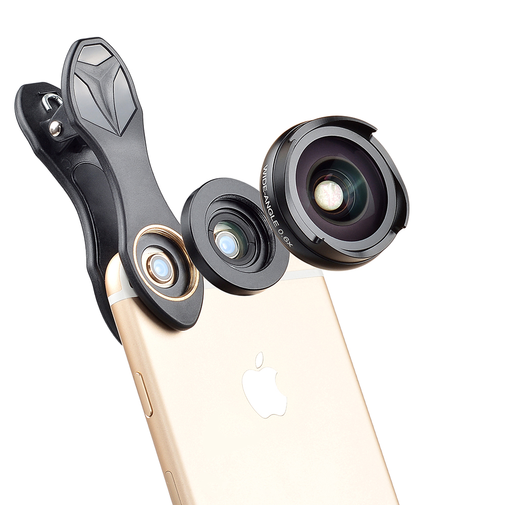 bilder für KEINE Verzerrung, Metall 0.6X Telefon Breiter Engel Objektiv mit 10X Macro Lens Kit für iPhone Samsung HuaWei XiaoMi Mobile Smartphone